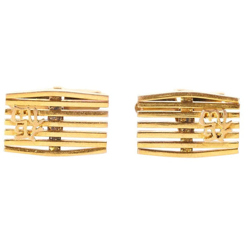 Men's 14 Karat Gold Cufflinks, Pair