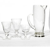 "1950s Cambridge Glass Co ""Star"" Beverage Set of 19 Pieces"