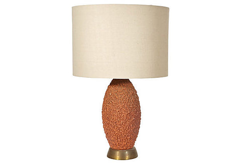 Vintage Mid Century Textured Table Lamp