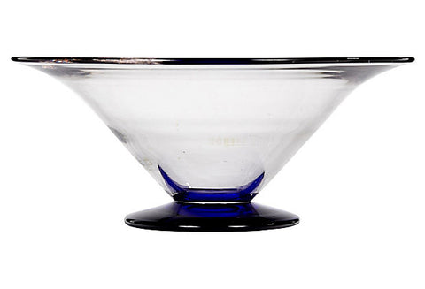 Cobalt Base Console Bowl