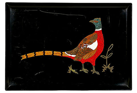 Couroc Pheasant Plastic Serving Tray