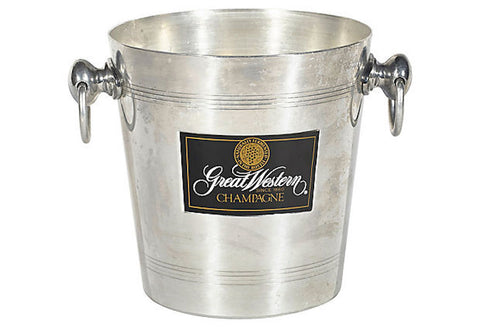 French Champagne Ice Bucket w/ Handles