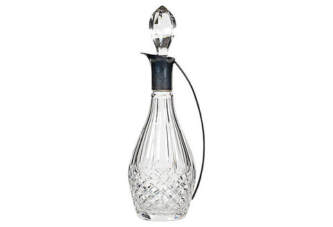 Sterling Silver Handled Glass Decanter