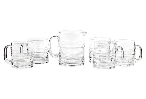 1960s Beer Pitcher & Tumbler Set