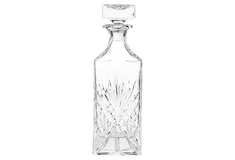 1950s Diamond Pattern Glass Decanter