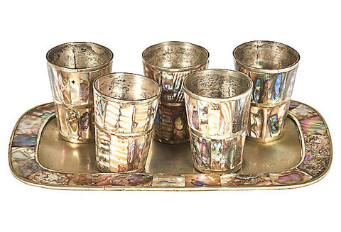 Mexican Abalone Liquor Shot Set