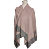 Poncho KELLY - Studed Poncho - Vera Tucci OriginalsAccessories LIGHT PINK / GREY