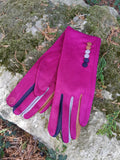 Gloves Margot Faux Suede Touch Screen Glove - G05 - Vera Tucci OriginalsAccessories RASPBERRY / SMALL
