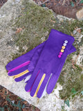 Gloves Margot Faux Suede Touch Screen Glove - G05 - Vera Tucci OriginalsAccessories PURPLE / SMALL
