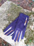 Gloves Margot Faux Suede Touch Screen Glove - G05 - Vera Tucci OriginalsAccessories NAVY / SMALL