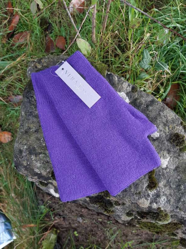 Gloves CAMILLE - FINGERLESS GLOVES TO MATCH OUR HATS (PLAIN) - Vera Tucci OriginalsAccessories PURPLE ?id=17223907082377