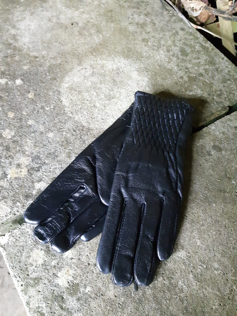 Iona weave top detail Leather Gloves