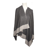 Poncho KELLY - Studed Poncho - Vera Tucci OriginalsAccessories DARK GREY / BEIGE