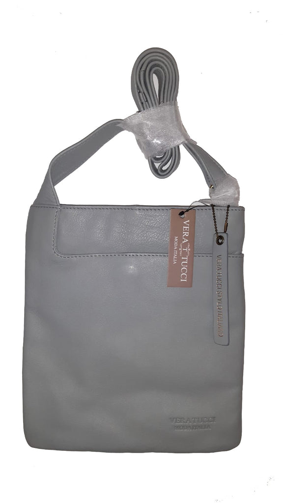 Leather Bag Leigh - Cross Body Leather Bag - Vera Tucci OriginalsBags Light Grey ?id=15324023128201