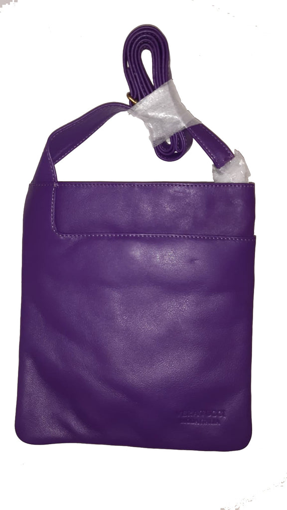 Leather Bag Leigh - Cross Body Leather Bag - Vera Tucci OriginalsBags Purple ?id=15324023062665