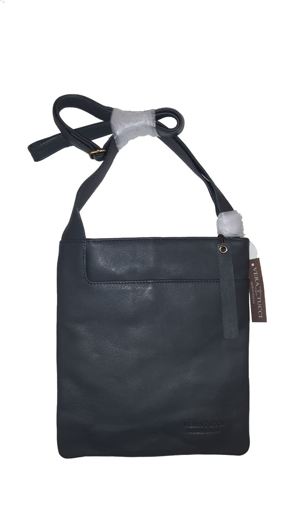 Leather Bag Leigh - Cross Body Leather Bag - Vera Tucci OriginalsBags Dark Grey ?id=15324023160969