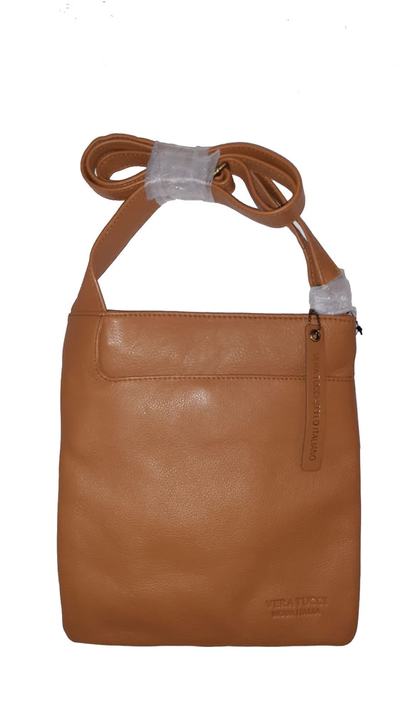Leather Bag Leigh - Cross Body Leather Bag - Vera Tucci OriginalsBags Tan ?id=15324022931593