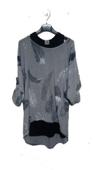 TS1902 Feathers Double Layer Top