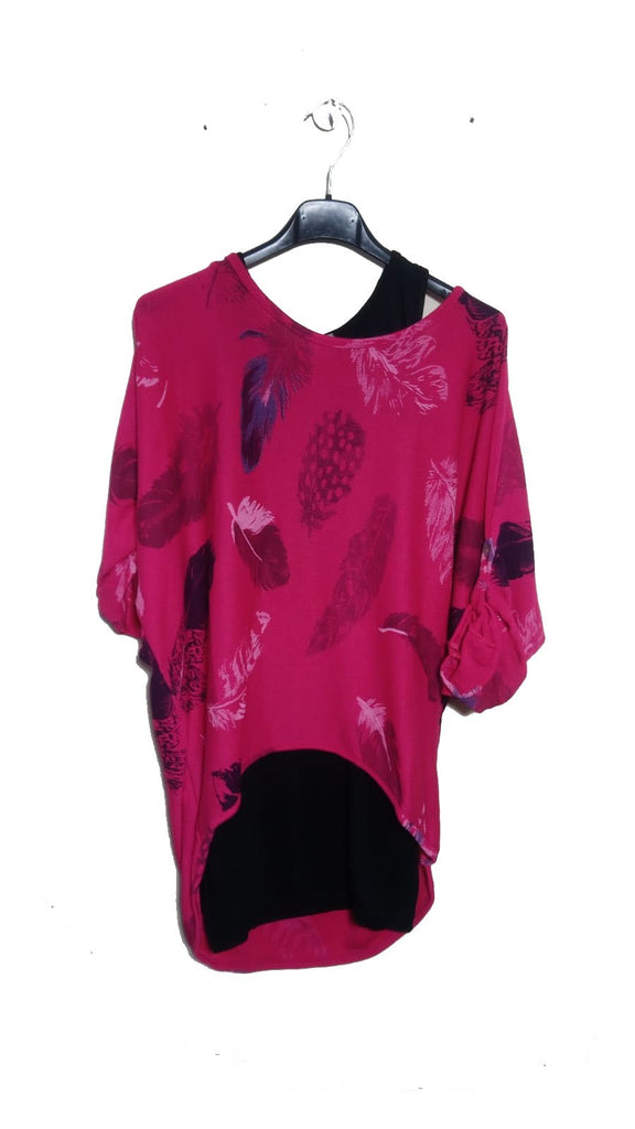 Feathers Double Layer Top One Size