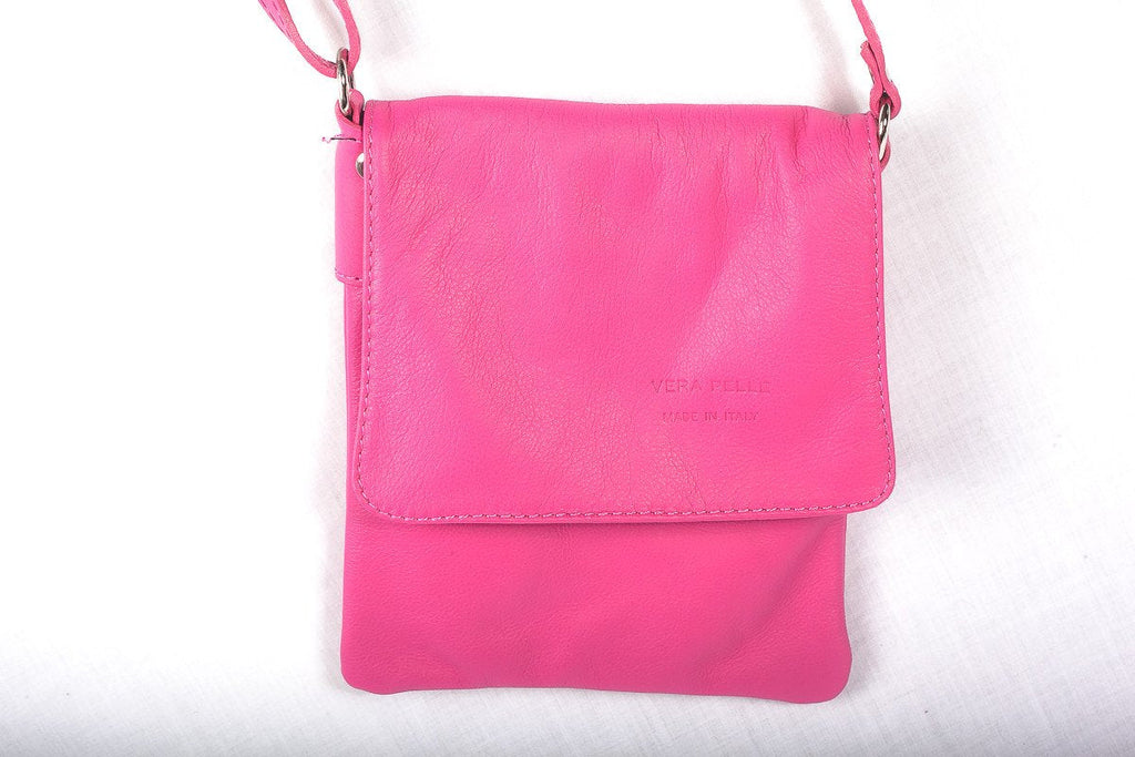 Leather Bag Faye Classic - Vera Tucci OriginalsBags Fuschia