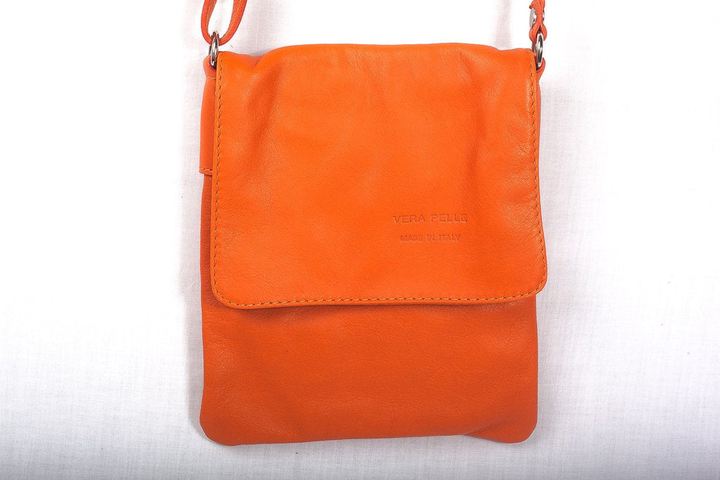 Leather Bag Faye Classic - Vera Tucci OriginalsBags Orange