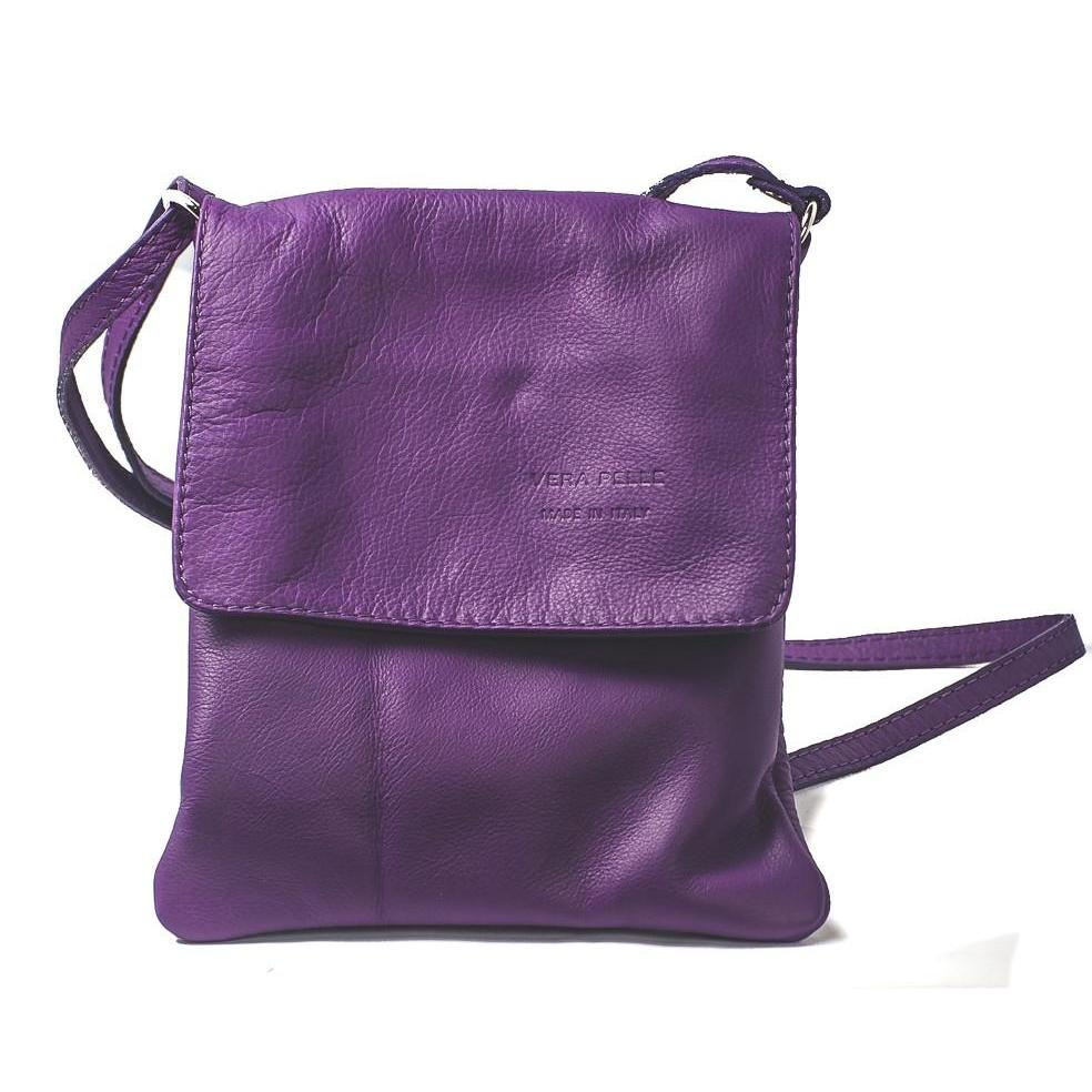 Leather Bag Faye Classic - Vera Tucci OriginalsBags Purple