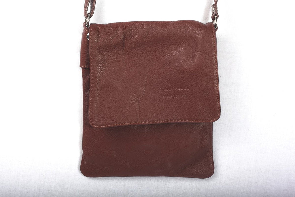 Leather Bag Faye Classic - Vera Tucci OriginalsBags Chestnut