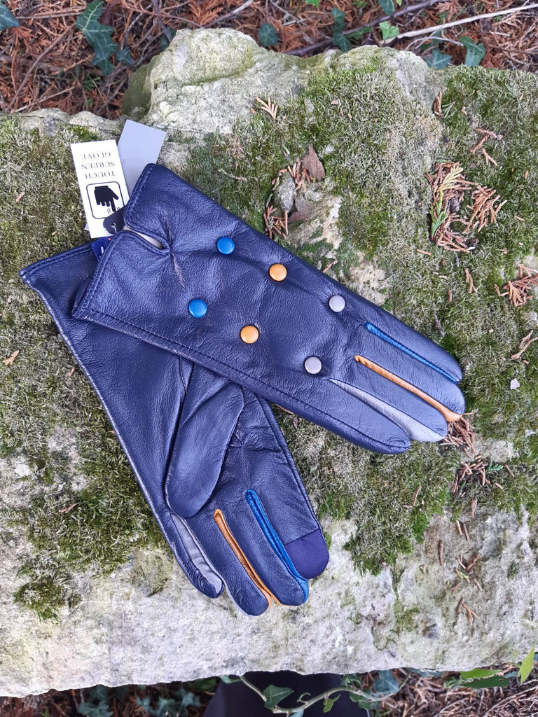 CHARITY G04 6 BUTTON LEATHER GLOVE RMD1805/001