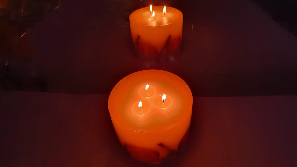Large 3 Wick VT Botanical Candle - Winter Orange