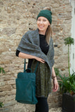 Scarves Alicia Reversible Star Print Ribbed Viscose Scarf - (RMD1905001) - Vera Tucci OriginalsAccessories OLIVE/GREY SOLD OUT