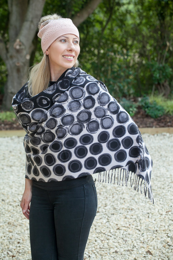 INGRID SC5012 CIRCLE PATTERNSCARF