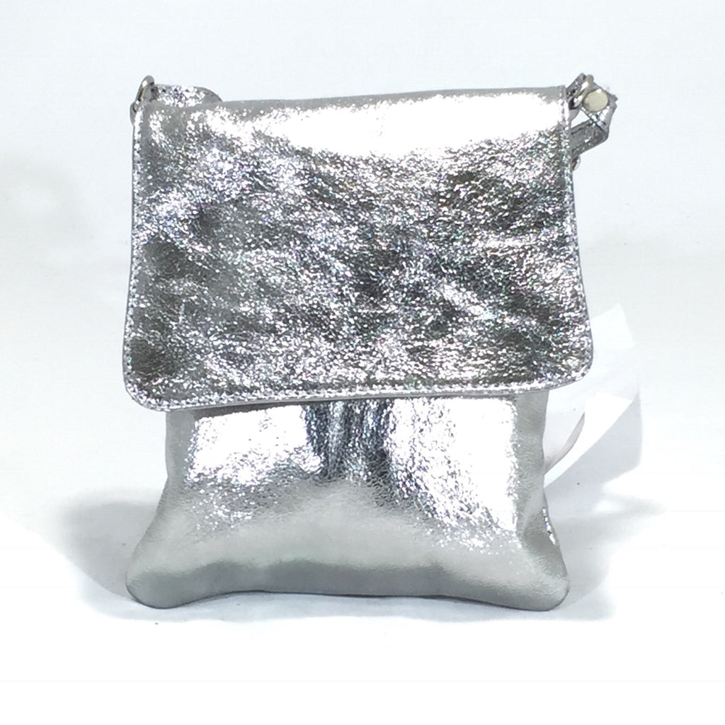 Leather Bag Abby (Metallic Leather) - Vera Tucci OriginalsBags SILVER