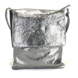 Leather Bag Abby (Metallic Leather) - Vera Tucci OriginalsBags PEWTER