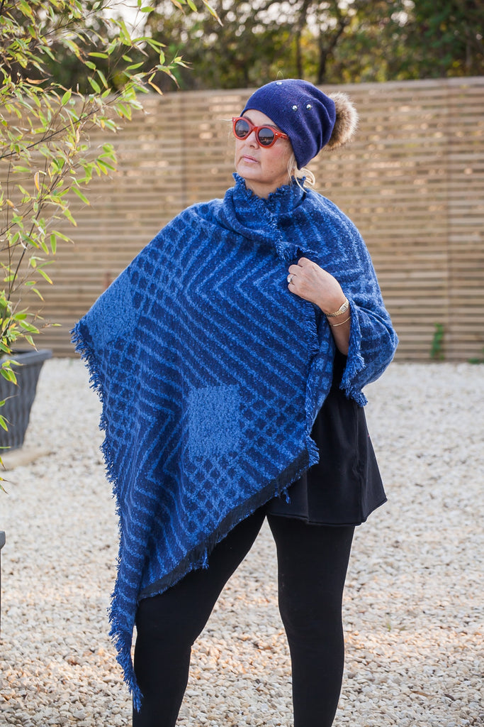 Scarves Cathy Scarf - SC6661 - Vera Tucci OriginalsAccessories BLUE SOLD OUT