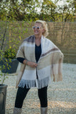 Scarves Philipa Knitted Scarf - SC5097 - Vera Tucci OriginalsAccessories CRM/GRY
