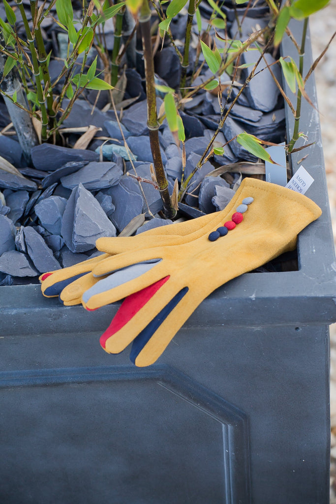 Gloves Margot Faux Suede Touch Screen Glove - G05 - Vera Tucci OriginalsAccessories MUSTARD / SMALL