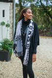 Scarves Moira Abstract Leopard Print Scarf - Vera Tucci OriginalsAccessories Grey