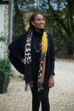 Scarves Moira Abstract Leopard Print Scarf - Vera Tucci OriginalsAccessories MUSTARDTAN