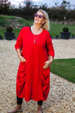 Pin Cord ELSPETH 29225/p Italian Pin Cord Dress - Vera Tucci OriginalsItalian Clothing 1 / RED ?id=17309104963721
