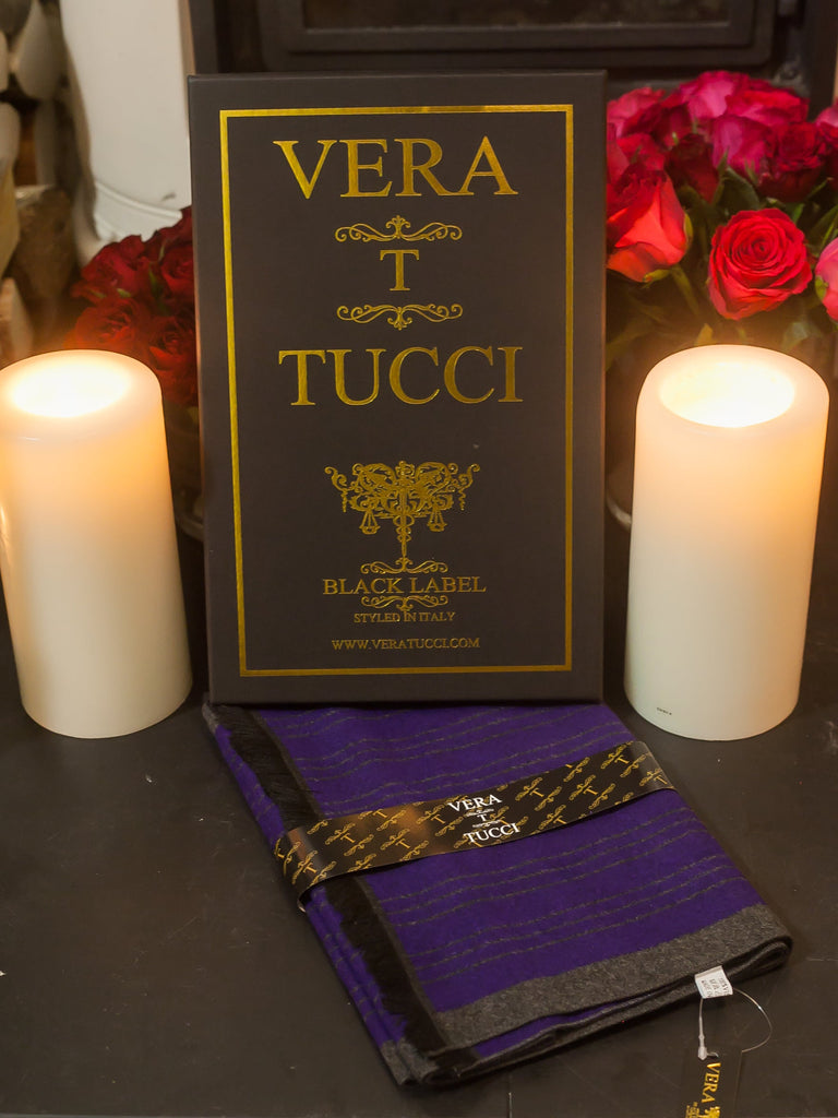 Scarves Men's Boxed Scarf, Double Sided - Vera Tucci OriginalsAccessories