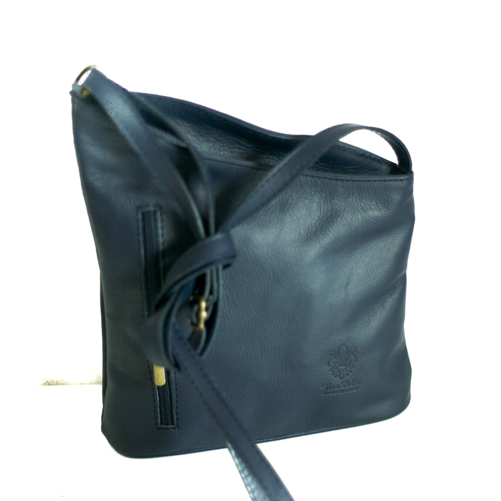 Leather Bag Lindsey Small - Vera Tucci OriginalsBags Navy