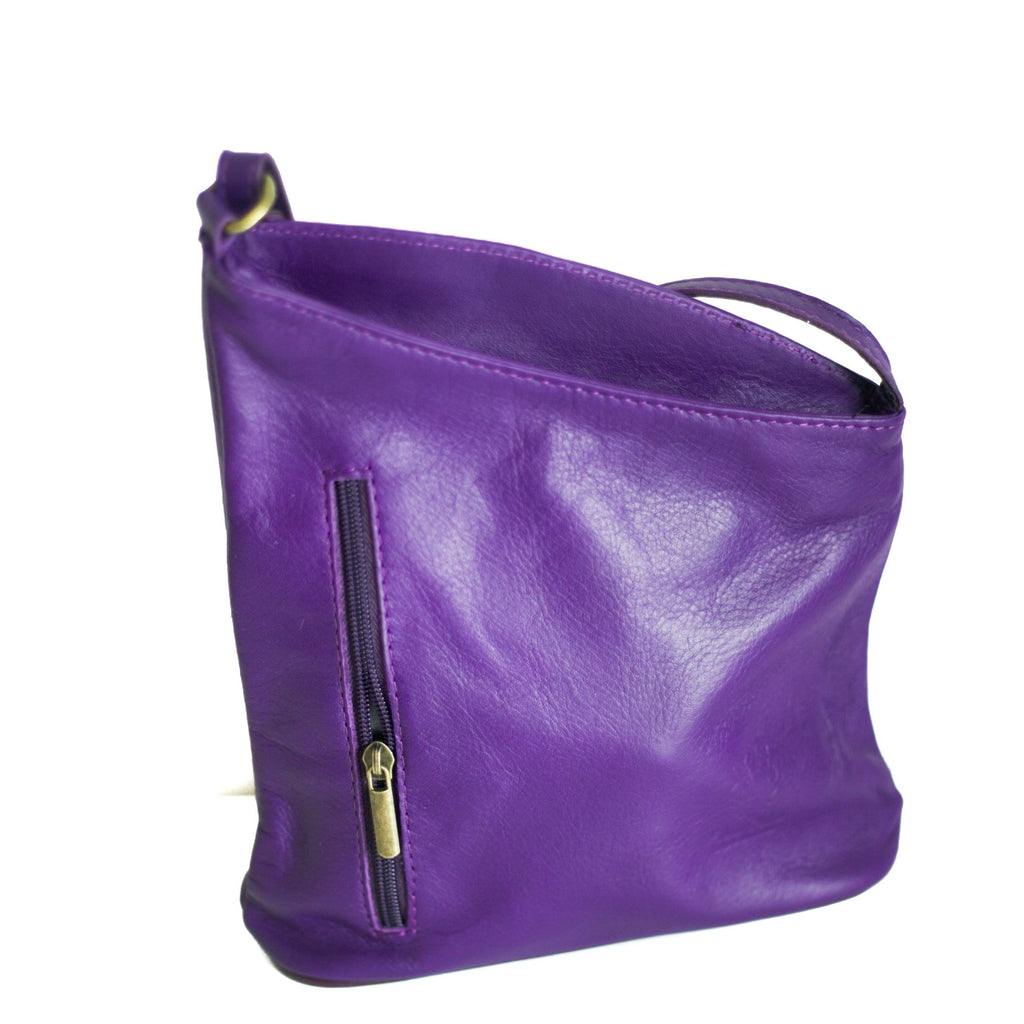 Leather Bag Lindsey Small - Vera Tucci OriginalsBags Purple