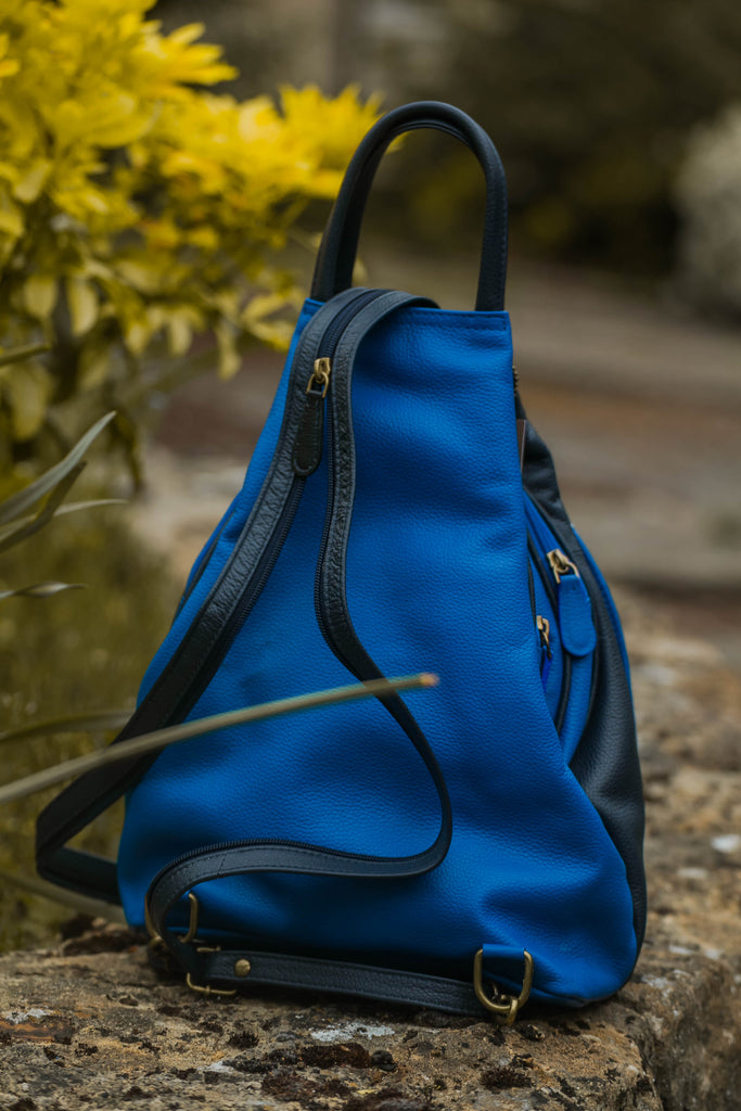 Leather Bag Luna Backpack Milled Cow Leather - Vera Tucci OriginalsBags