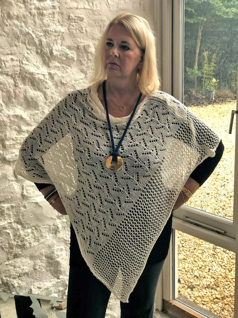 CROCHET STYLE KNITTED PONCHO