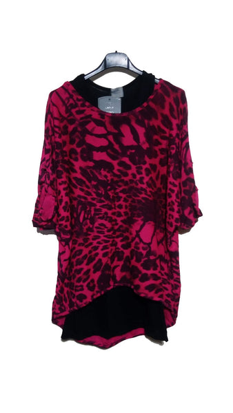 TS1901 Leopard Double Layer Top