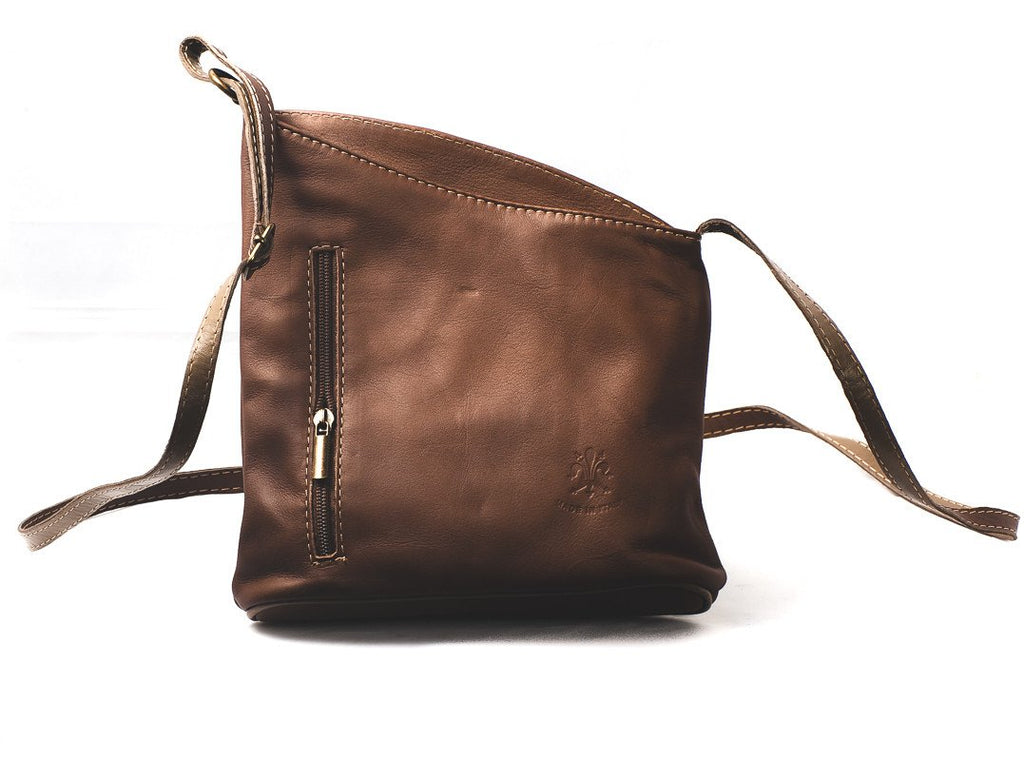 Leather Bag Lindsey Small - Vera Tucci OriginalsBags Brown