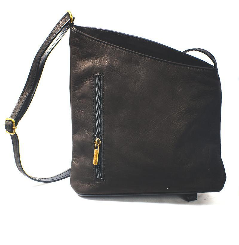 Leather Bag Lindsey Small - Vera Tucci OriginalsBags black