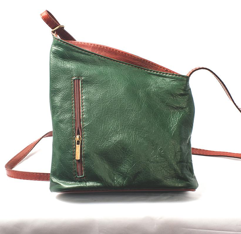 Leather Bag Lindsey Small - Vera Tucci OriginalsBags Green + Brown