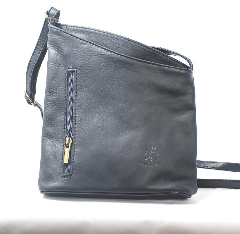 Leather Bag Lindsey Small - Vera Tucci OriginalsBags DARK GREY