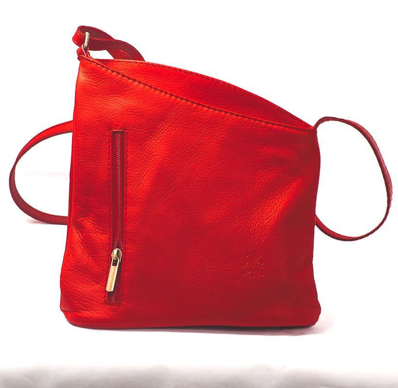 Leather Bag Lindsey Small - Vera Tucci OriginalsBags Red